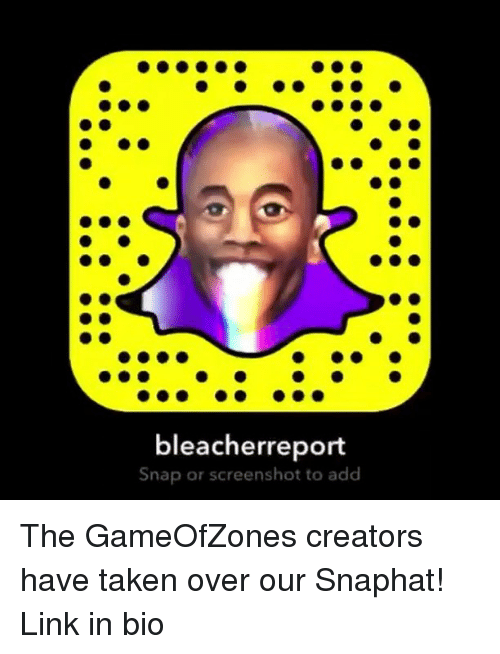 Bleacher Report Snap or Screenshot to Add the GameOfZones