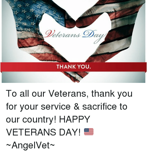 Blieraner Daya Thank You To All Our Veterans Thank You For Your Service Sacrifice To Our Country Happy Veterans Day Angelvet Meme On Me Me