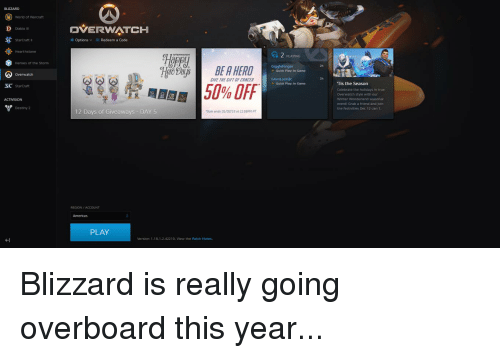 BLIZZARD World of Warcraft DVERWATCH D Diablo III StarCraft