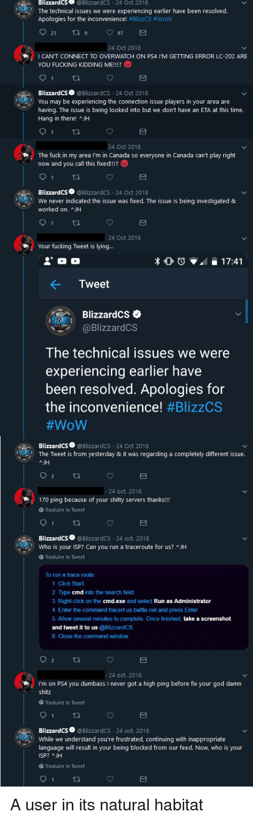 BlizzardCS 24 Oct 2018 the Technical Issues We Were