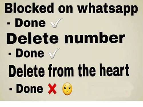 Blocked On Whatsapp Done V Delete Number Done V Delete From The