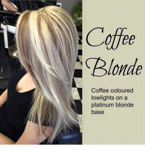 Memes Coffee and ? Blonde Coffee coloured lowlights on a platinum blonde base & Blonde Coffee Coloured Lowlights on a Platinum Blonde Base | Meme on ...