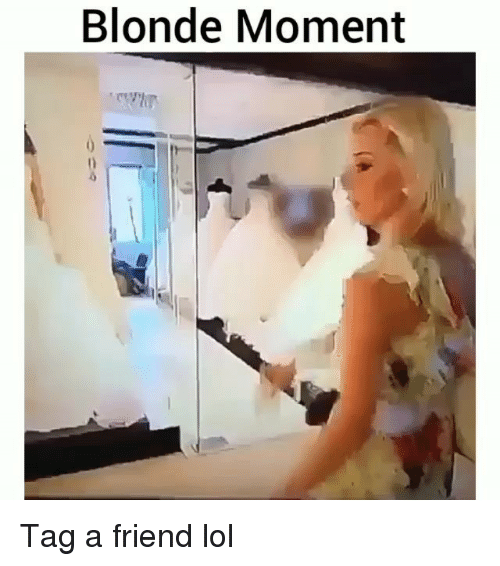 Funny, Lol, and Friend: Blonde Moment Tag a friend lol