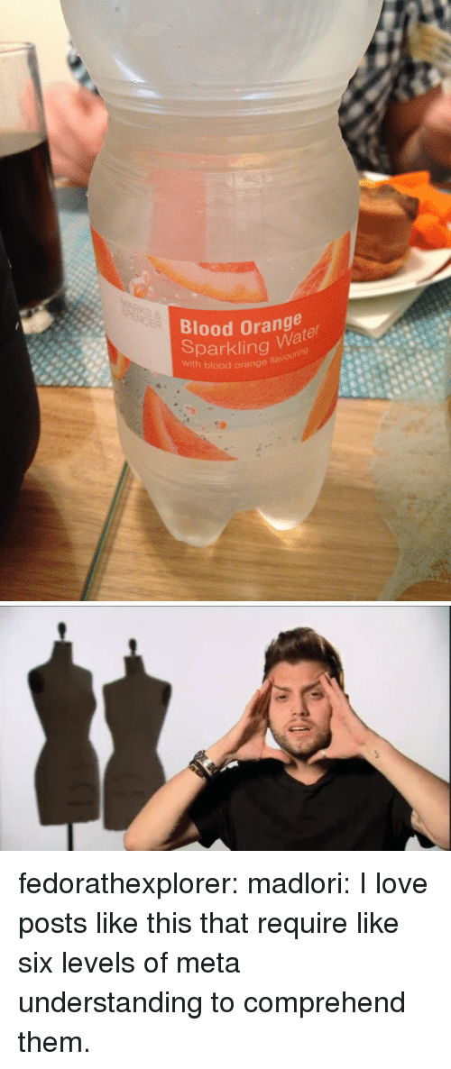 Love, Target, and Tumblr: Blood Orange  Sparklingu88  with blood orange fla  Wa fedorathexplorer: madlori: I love posts like this that require like six levels of meta understanding to comprehend them.