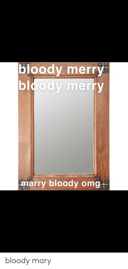 Omg, Bloody Mary, and Mary: bloody merry  bloody merry  marry bloody omg bloody mary