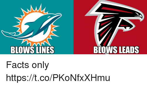 Facts, Football, and Nfl: BLOWS LINES  BLOWS LEADS Facts only https://t.co/PKoNfxXHmu