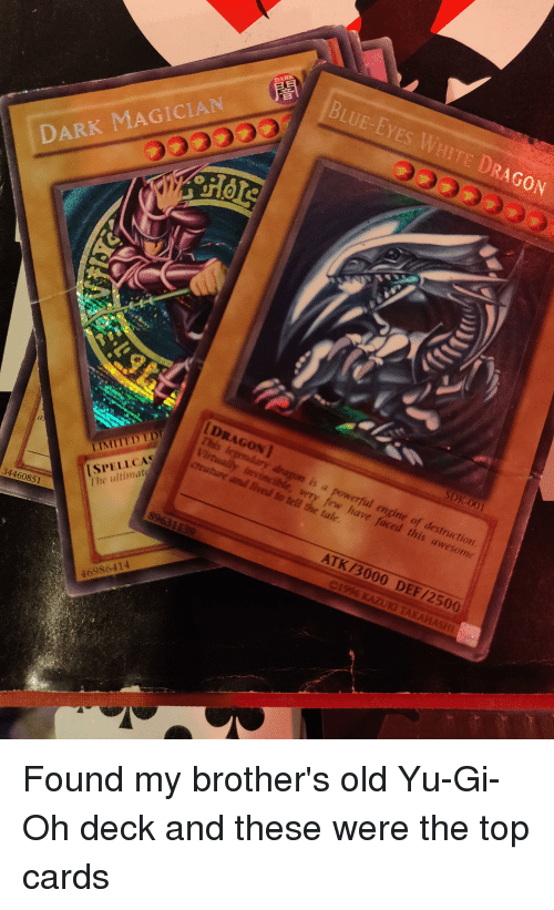 Blue Eyes White Dragon Dark Magician Dragon I Limited Ed Spellca The
