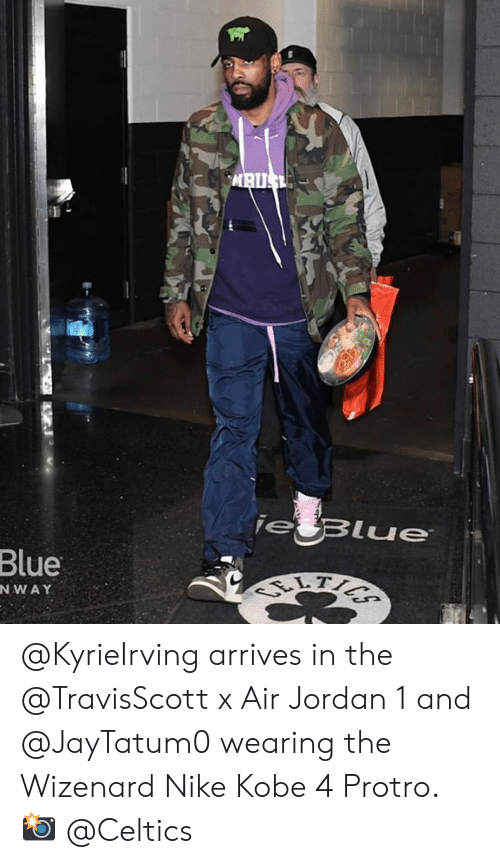 sports shoes a9877 19d84 Air Jordan, Nike, and Blue  Blue NWAY  KyrieIrving arrives in the
