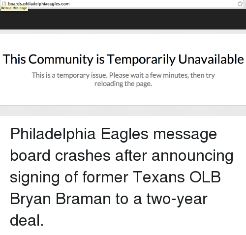 Boards Philadelphiaeaglescom Reload This Page This Community Is ...