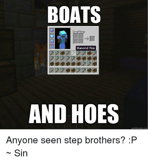 crafting a boat in minecraft