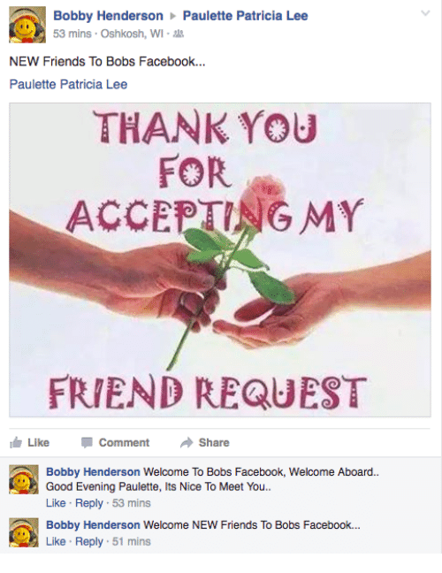 bobby henderson paulette patricia lee new friends to bobs facebook