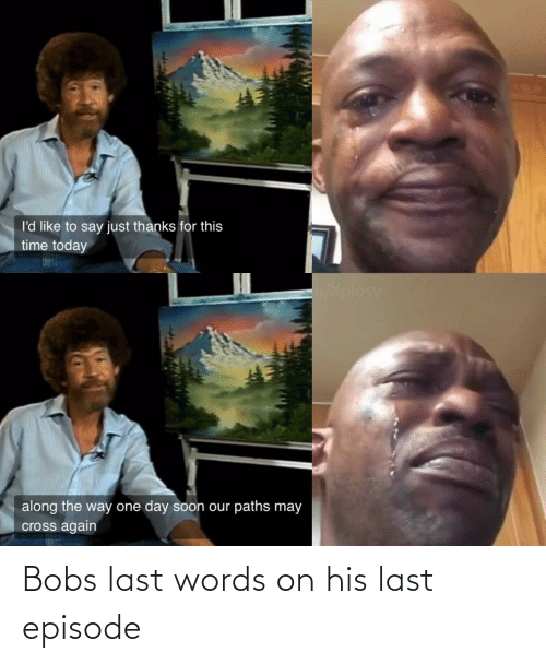 Last Words, Words, and  Episode: Bobs last words on his last episode