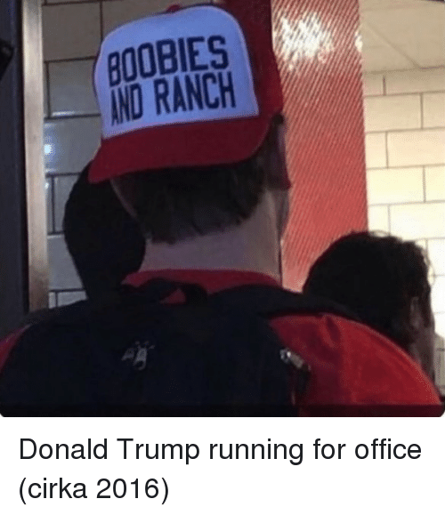 Boobies, Donald Trump, and Office: BOOBIES  AND RANCH  2 Donald Trump running for office (cirka 2016)
