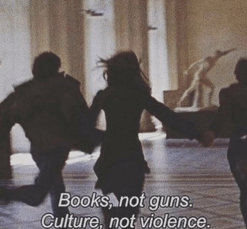 Books, Guns, and Culture: Books not guns.  Culture. not violence