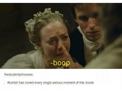 Funniest Meme Tumblr : Boop thestudentprincesss tumblr has movie ruined every single