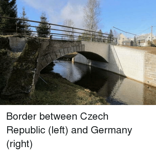 Germany, Republic, and Czech Republic: Border between Czech Republic (left) and Germany (right)