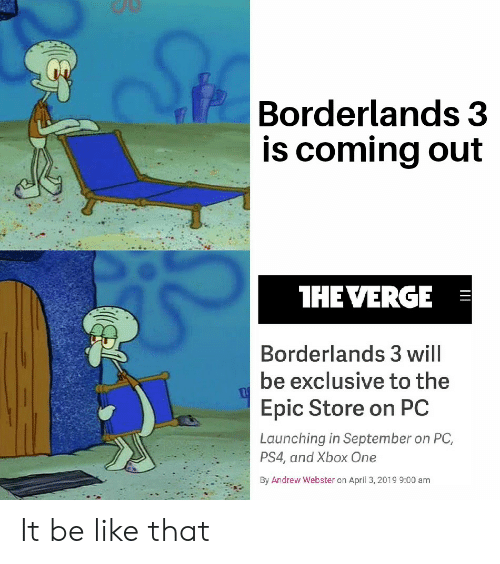 Borderlands 3 Is Coming Out HEVERGE Borderlands 3 Will Be Exclusive