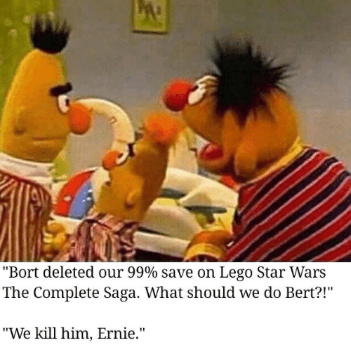 Bort Deleted Our 99 Save On Lego Star Wars The Complete Saga What