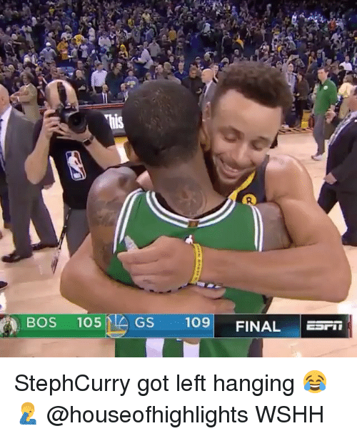 Memes, Wshh, and 🤖: BOS 105G  GS 109 FINAL EI StephCurry got left hanging 😂🤦♂️ @houseofhighlights WSHH