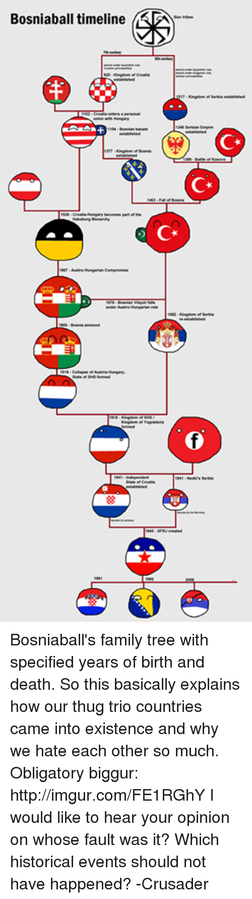 bosniaball timeline bosniaball s family tree with specified years of
