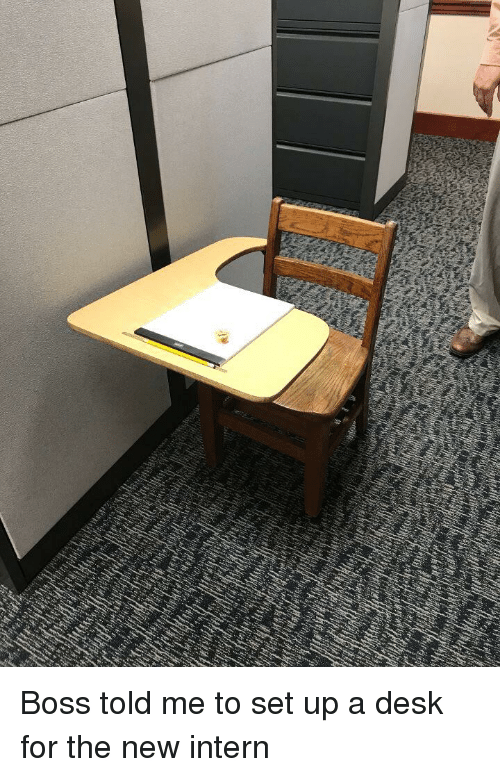 Funny, Desk, and Boss