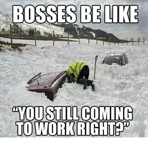 Bosses Be Like You Still Coming To Work