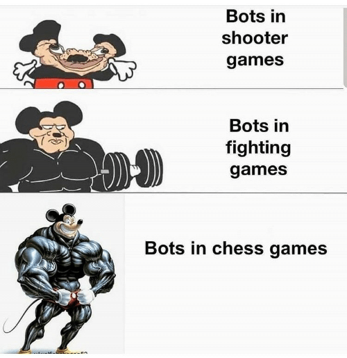 Chess, Games, and Shooter: Bots in  shooter  games  Bots in  fighting  games  Bots in chess games