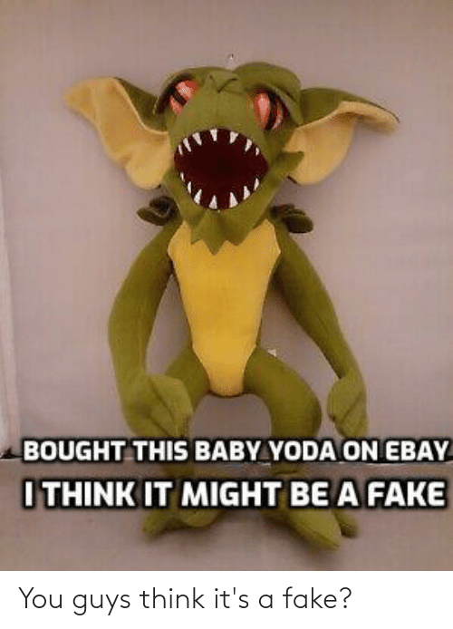 Bought This Baby Yoda On Ebay I Think It Might Be A Fake You