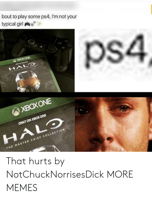 """Dank, Halo, and Memes: bout to play some ps4, I'm not your  typical girl y"""",  ps4  XBOXONE  ONLY ON XBOX ONE  HALO  CHI  THE MASTER CHIEF COLLECTION That hurts by NotChuckNorrisesDick MORE MEMES"""