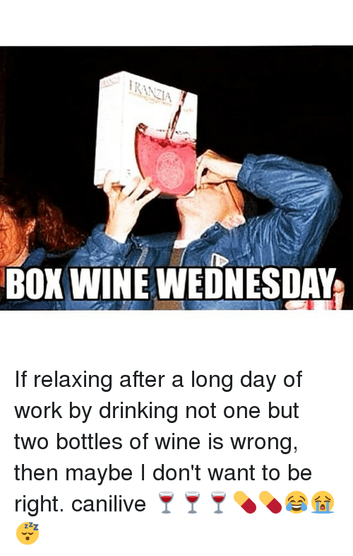 box wine wednesday if relaxing after a long day of 255946 ✅ 25 best memes about box wine box wine memes,Box Wine Meme