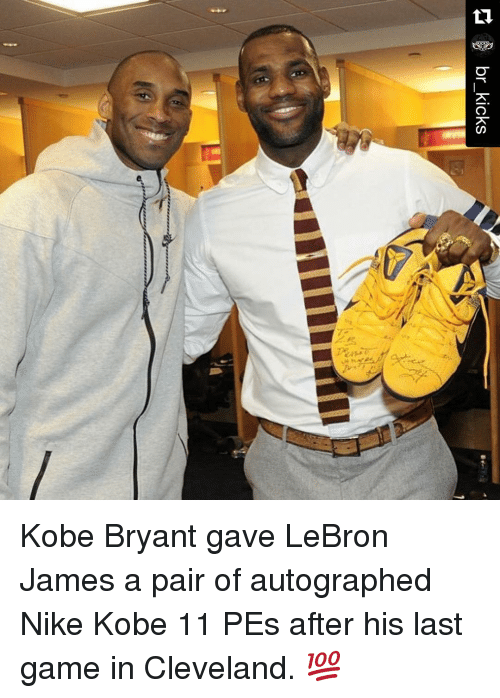14d9df1810b0 Br Kicks Kobe Bryant Gave LeBron James a Pair of Autographed Nike ...