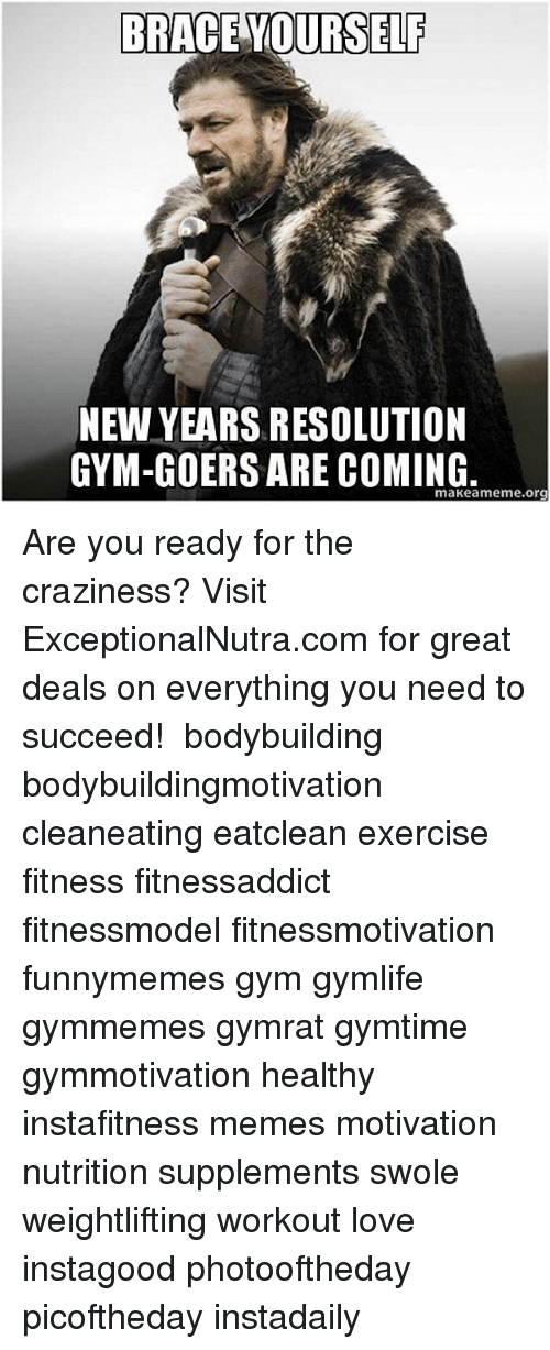 Brace yourself new years resolution gym goers are coming makeameme gym memes and new years brace yourself new years resolution gym goers solutioingenieria Gallery