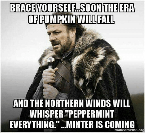 brace yourself soon the era of pumpkin will fall and 5176274 ✅ 25 best memes about minter is coming minter is coming memes