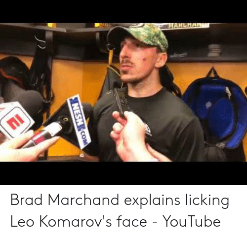 Brad Marchand Explains Licking Leo Komarov's Face - YouTube