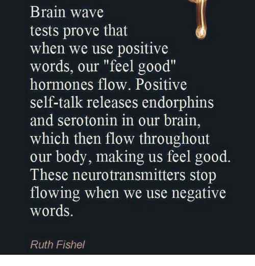 Brain Wave Tests Prove That When We Use Positive Words Our