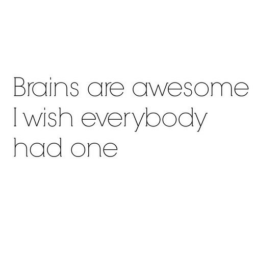 6a48a3e22 Brains, Awesome, and One: Brains are awesome I wish everybody had one