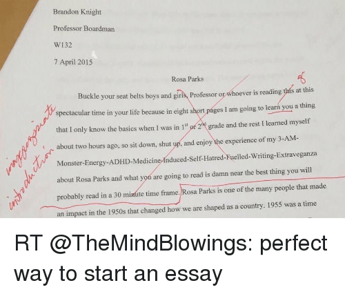 Best way to start an essay