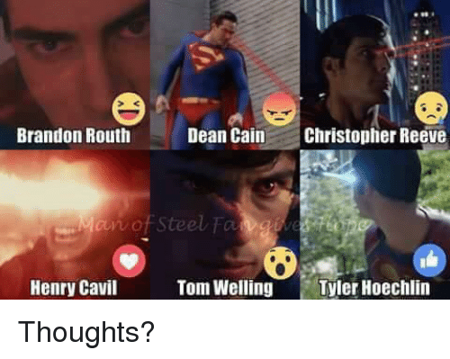 Christopher Reeve Memes And Toms Brandon Routh Dean Cain N Of