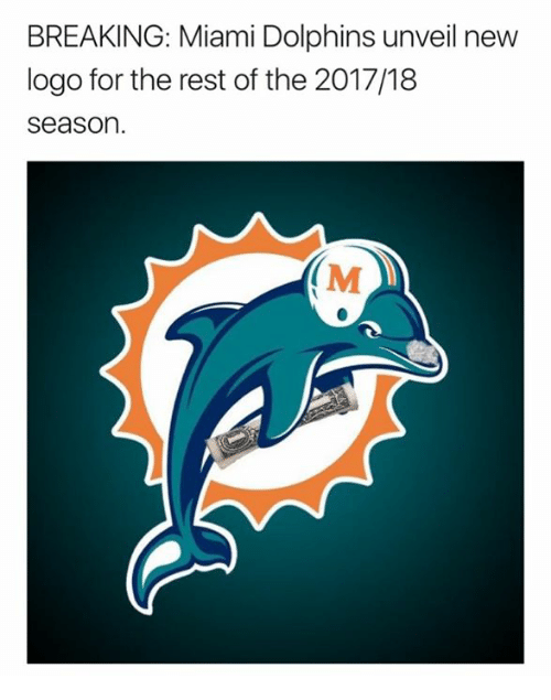 Miami Dolphins, Dolphins, and Miami: BREAKING: Miami Dolphins unveil new  logo for the rest of the 2017/18  season.  (M