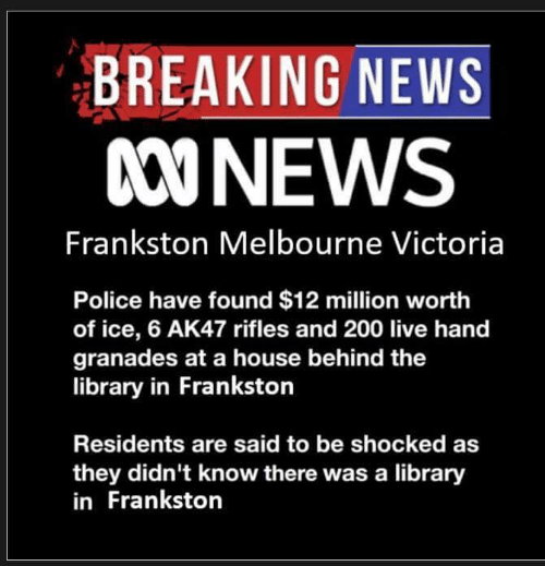 BREAKING NEWS 000NEWS Frankston Melbourne Victoria Police