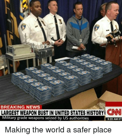 Breaking News: BREAKING NEWS LARGEST WEAPON BUST IN UNITED STATES HISTORY