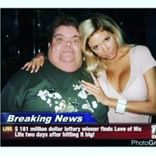 breaking news live 181 millon dollar lottery winner finds love 11409723 25 best lottery winners memes lottery winner memes