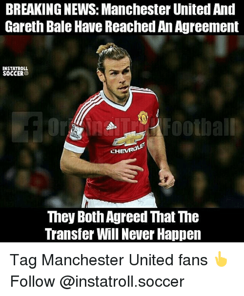 Breaking News: BREAKING NEWS Manchester United And Gareth Bale Have
