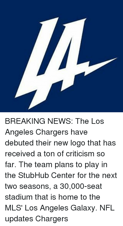 Breaking News The Los Angeles Chargers Have Debuted Their New Logo
