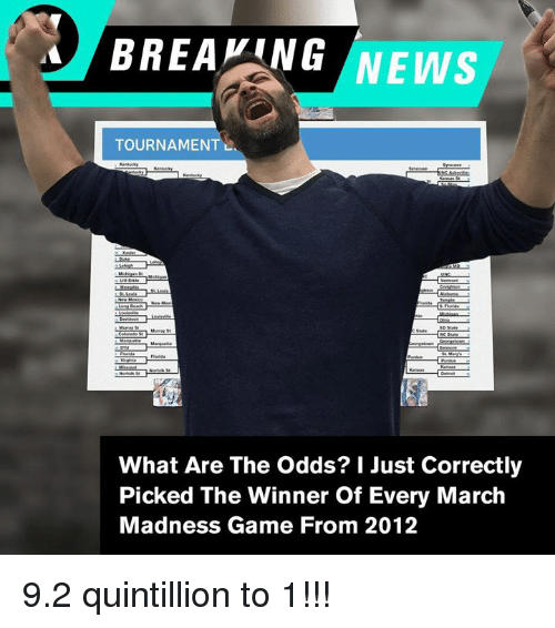 March Madness News And Breaking BREAKING NEWS TOURNAMENTL What Are The Odds