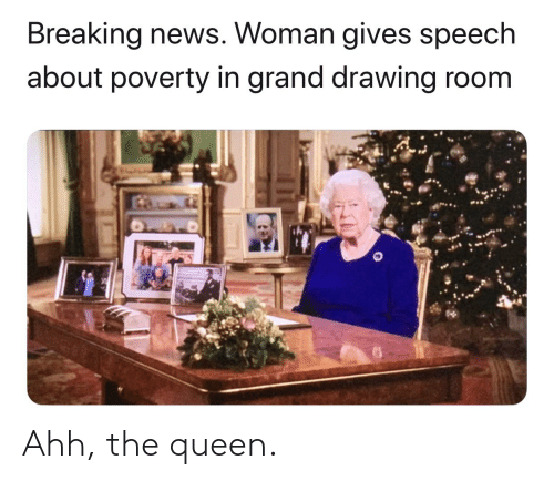 Breaking News Woman Gives Speech About Poverty In Grand Drawing