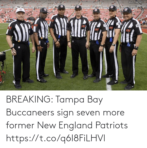 England, Football, and New England Patriots: BREAKING: Tampa Bay Buccaneers sign seven more former New England Patriots https://t.co/q6I8FiLHVl