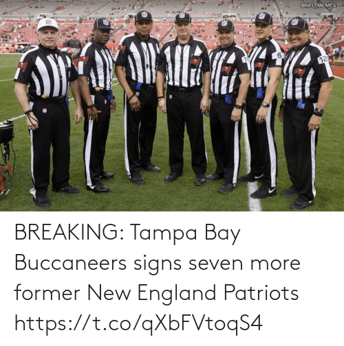 England, Football, and New England Patriots: BREAKING: Tampa Bay Buccaneers signs seven more former New England Patriots https://t.co/qXbFVtoqS4