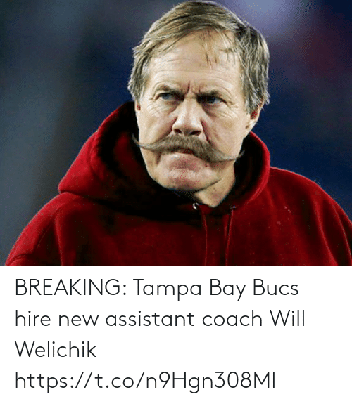 Football, Nfl, and Sports: BREAKING: Tampa Bay Bucs hire new assistant coach Will Welichik https://t.co/n9Hgn308Ml