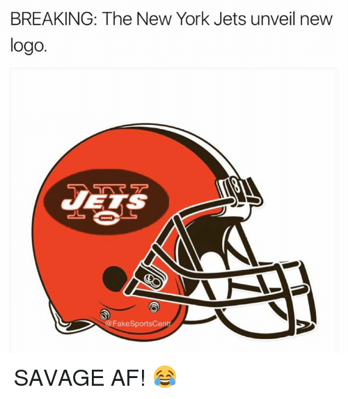 Af, New York, and New York Jets: BREAKING: The New York Jets unveil new  logo  akeSportsCe SAVAGE AF! 😂